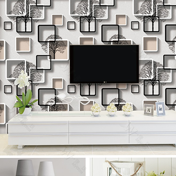 Wallpaper For Living Room 2017 2017 new wholesale wall art decor interior vinyl 3d designs room