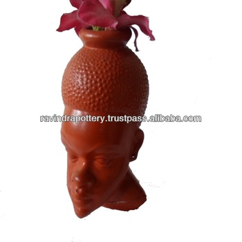 Rotem Ton Dame Gesicht Kopf Blumentopfe Buy Terrakotta Dame