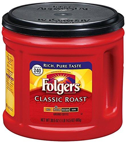 Folgers Classic Roast Ground Coffee, Medium Roast, 30.5 Ounce