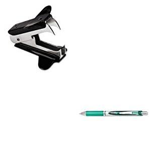 KITPENBL77DUNV00700 - Value Kit - Pentel EnerGel RTX Roller Ball Retractable Gel Pen (PENBL77D) and Universal Jaw Style Staple Remover (UNV00700)