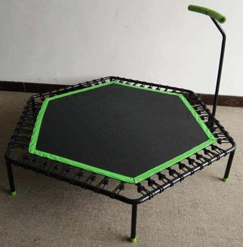 "high quality 48"" LS-TR41068 rebounder mini trampoline with handle"