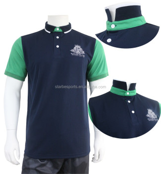 Custom company embroidered logo polo shirt for men no for Custom shirt embroidery no minimum