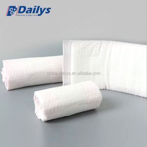 Disposable lady cotton pads oem cotton comfort china supplier 350mm bio straight type sanitary napkin Maternity pads machine