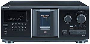 Sony 300 Disc Megastorage Cd Changer, CD-R/RW Playback, Headphone Output, Remote Control, Plus 100ft Wire