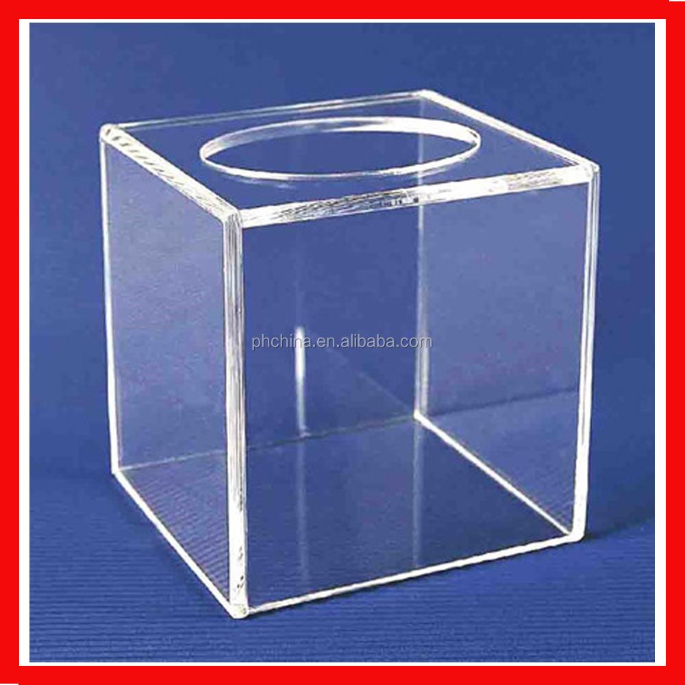 clear custom design plastic donation box acrylic small. Black Bedroom Furniture Sets. Home Design Ideas