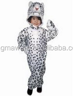 Plush Snow Leopard Costume For Adult And Children Plush Leopard
