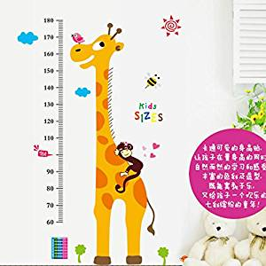 Arrival Kids Height Chart Wall Sticker Home Decor Cartoon Giraffe Height Ruler Home Decoration Room Decals Sticker