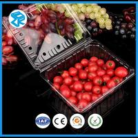 plastic disposable fruit packaging box container for strawberries