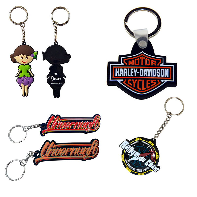 2020 eco friendly free sample no minimum customer personalized eco-friendly ODM 2D 3D epoxy soft pvc keychain