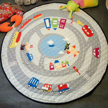 Round folding toy storage organiser kids children baby play mat