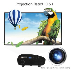 Mini LED Projector 120 lumens 1080P HD Contrast Ratio 300:1 US Plug HD/SD/USB/Audio/VGA/AV for Home Theater Notebook Smart phone