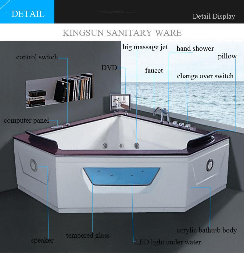 K-8944 Massage Uniform 2 Person Hydro Spa Bath Hot Tub Spa With Tv ...
