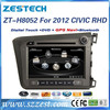 ZESTECH OEM 8 inch 2 Din Car dvd gps for honda civic DVD GPS Navigation (right hand drive)