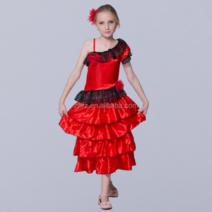 Hot selling Spain flamenco dance dress sexy dance costume performance wear for girl in cheap price