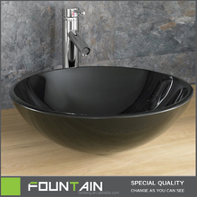 hangzhou fabricacin negro color de bao lavabo de cristal lavabo del vidrio del color negro moderno