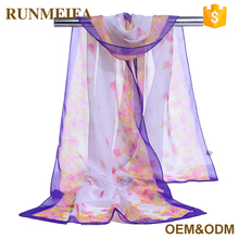 Wholesale Woven Yarn Dyed 100 Silk Fashion Spring Scarves Women Light Scarf