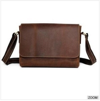 New arrival good quality handmade crazy horse leather men's messenger bag ,men shoulder bag for leisure,men travel bag