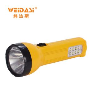 solar or AC charging hand held flashlight led torch rechargeable for sale