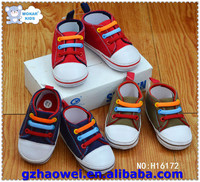 Colorful shoelace canvas baby shoes