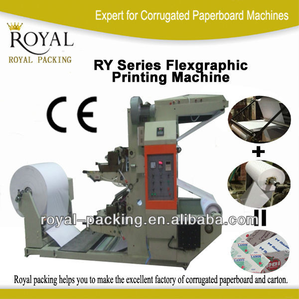 RY SERIES Paper Roll Flexographic Printing Machine paper roll to roll flexo printing machine