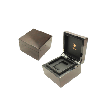 2019 Hot Sale Single Custom Luxury Wooden Watch Box With High Gloss Brown Color Paint