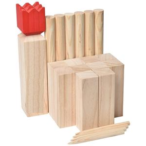 Outdoor garden games throwing kubb lawn game set for kids and adult
