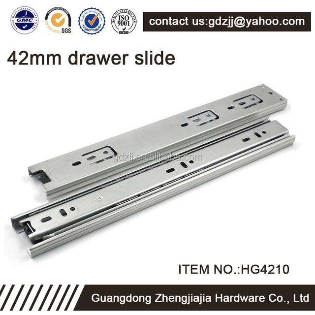 full extension zjj drawer slide self closing kitchen cabinet drawer slide