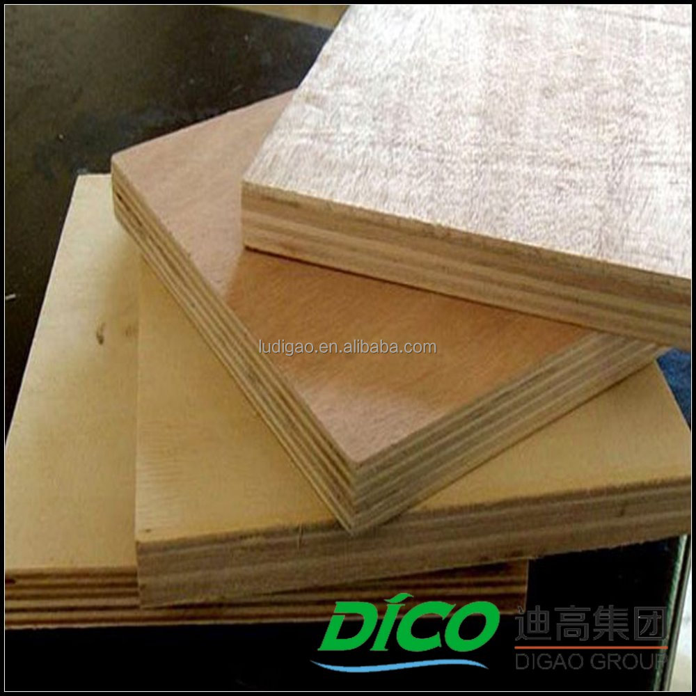 Outdoor Usage 4'x8' Different Wood Veneer Cheap Commercial Plywood