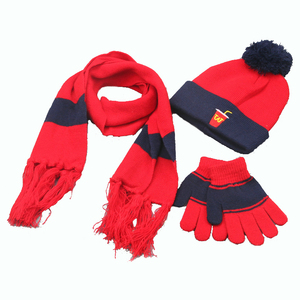 cheap magic knitted gloves hats scarf set for kids