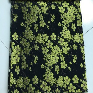factory direct fashional new woven plum blossom flower jacquard polyester fabric for dress