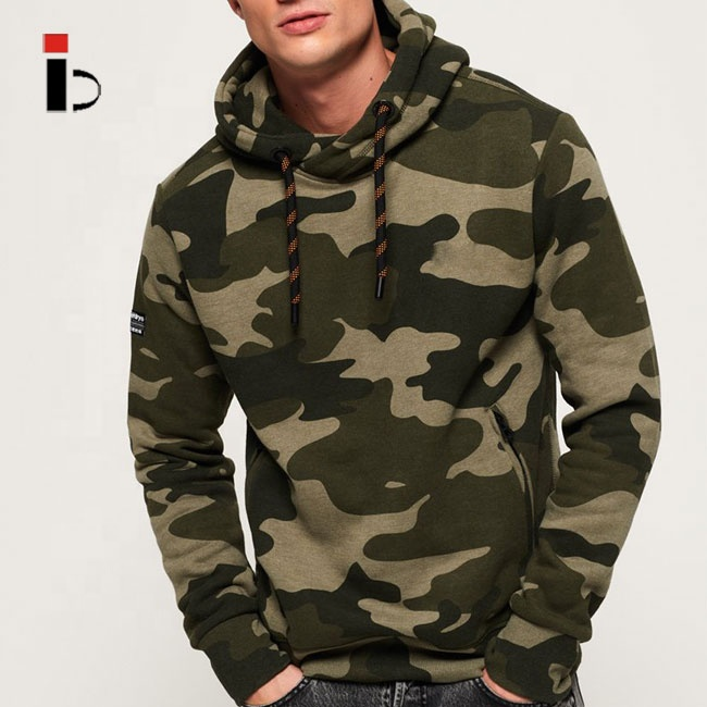 2019 newest gym fitness jogger camo hoodie with pocket