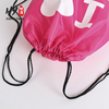 Wholesale customized pink print logo backpack bag