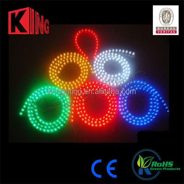 Long lifespan waterproof ip65 smd 5050 led strip light with varies color