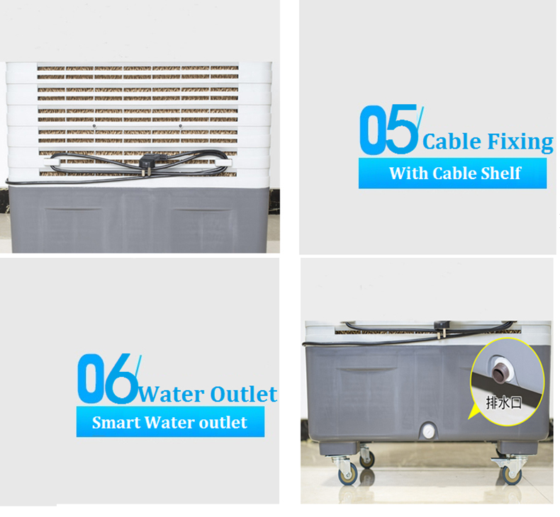 cheap price China best selling Industrial Evaporative air cooler with water