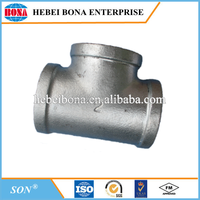 Pressure test hot dipped galvanized malleable iron pipe fittings with banded edge