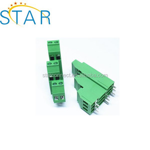 PCB 5.0mm Pitch Green Angled Cage Clamp Type Electrical Brass Terminal Block