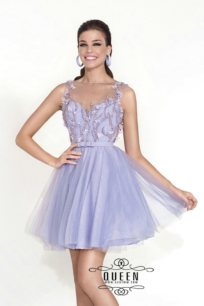 1ce30768999 Get Quotations · Lilac Scoop Backless Lace Applique Beading Short Vestido  De Formatura 8th Grade Summer Style Dress For