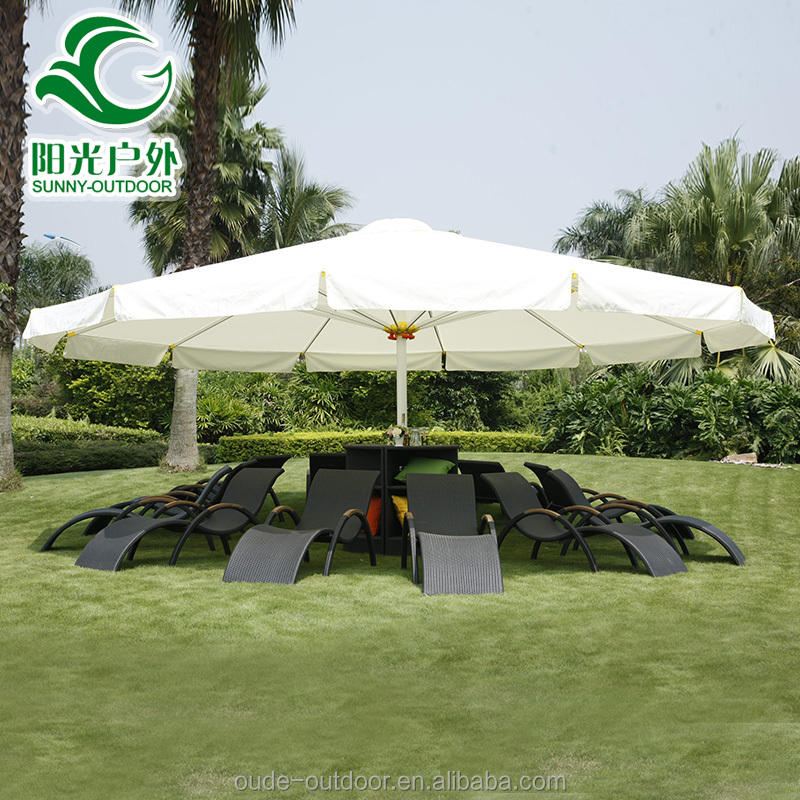 Factory Wholesale aluminum frame iron cast parasol fabric umbrella parts