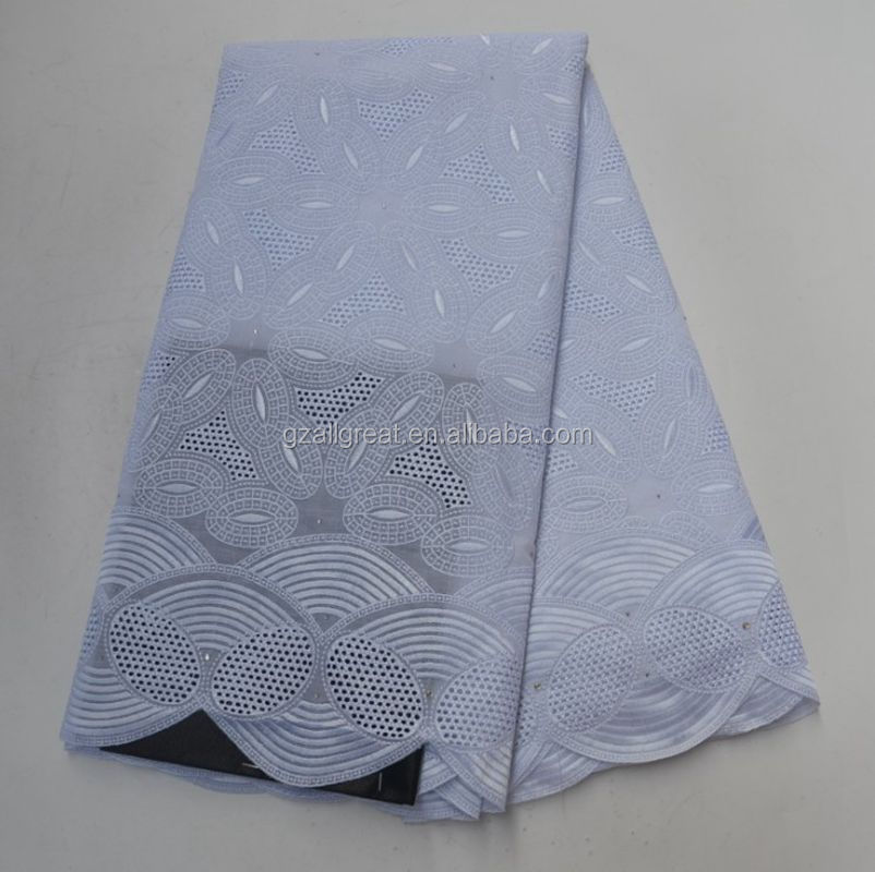 AG3148 wholesale 100% cotton j776 white voile fabrics africa laces swiss voile lace fabric in switzerland
