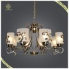 New Arrival Hanging Decorative Antique Glass Chandelier, Bronze Light FIxture Pendant Light