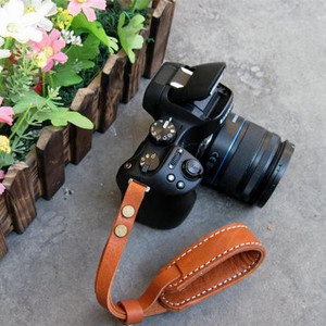 Universal cow leather dslr camera wrist hand strap with pad