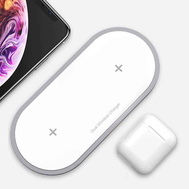Newest Charging Dual Qi Wireless Charger For iPhone Samsung Wireless Charger фото