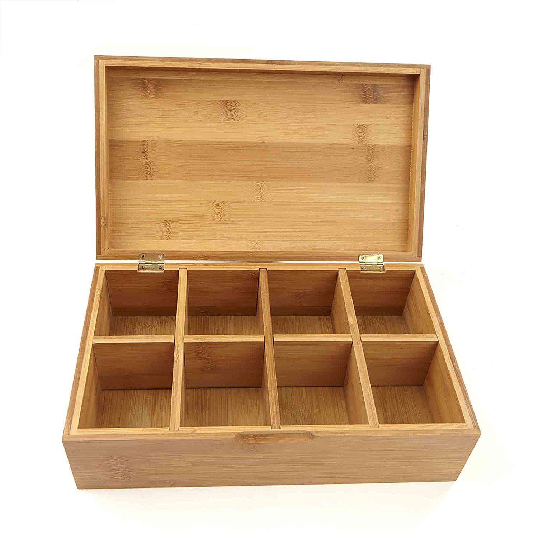 High Quality Organic Bamboo Tea Box Display Tea Cup Storage Box