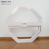 Aluminum hexagon frame tempered glass hung window