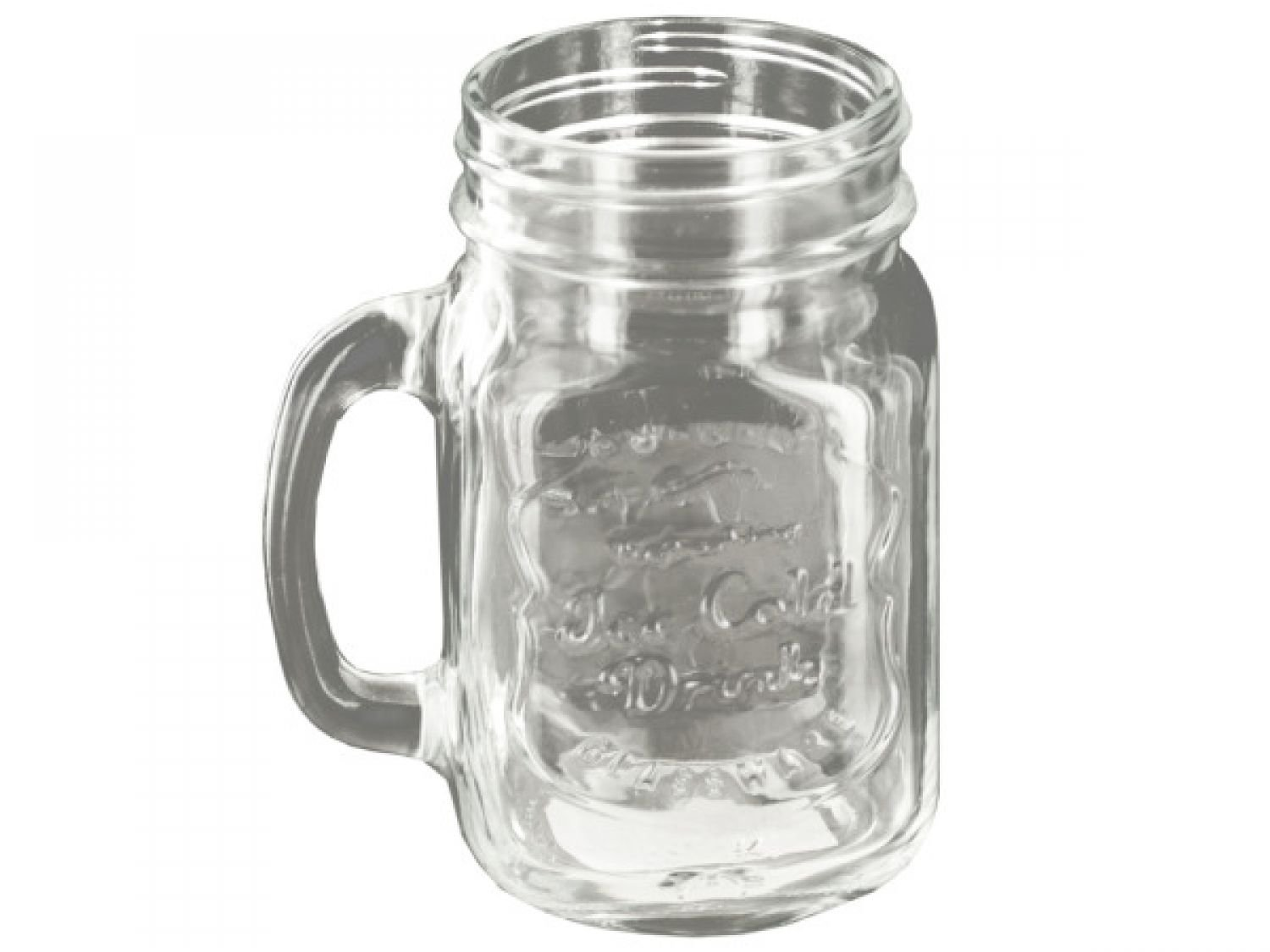 Vintage Style Clear Mason Drinking Jar - Set of 64, [Kitchen & Dining, Drinkware]