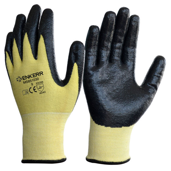 Enker Ce Anti Cut Gloves Nitrile Plam Coated Glove Buy