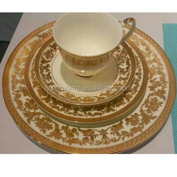 Chinese Style Ceramic Bone China Table Set Dinner Set,fine Bone Luxury China  Dinner Set