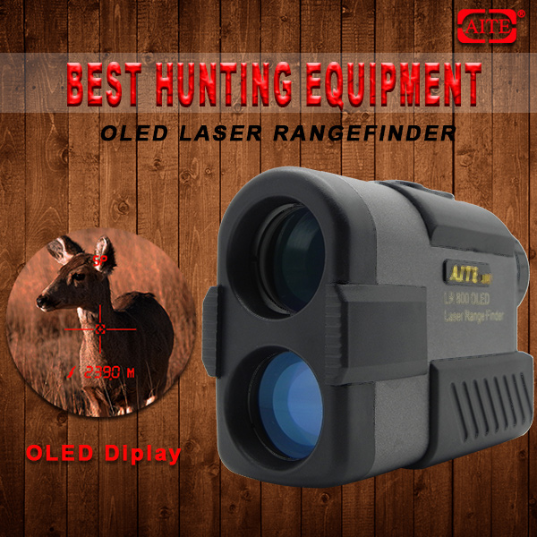 NEW 6*24mm 600m AITE Technology OLED display Hunting outdoor rangefinder hunting equipment