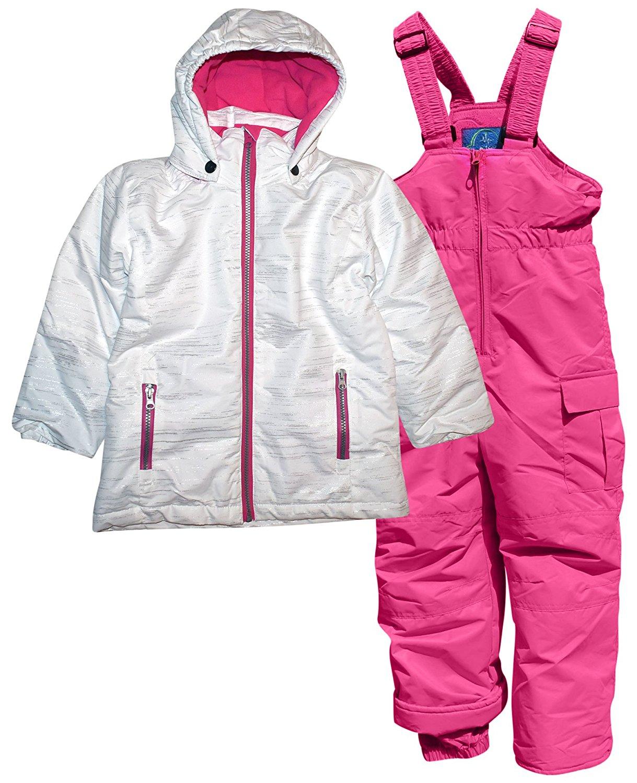 669498210d08 Buy Pulse Iceburg Little Girls 2 Piece Snowsuit Coat Ski Bibs 4-7 in ...