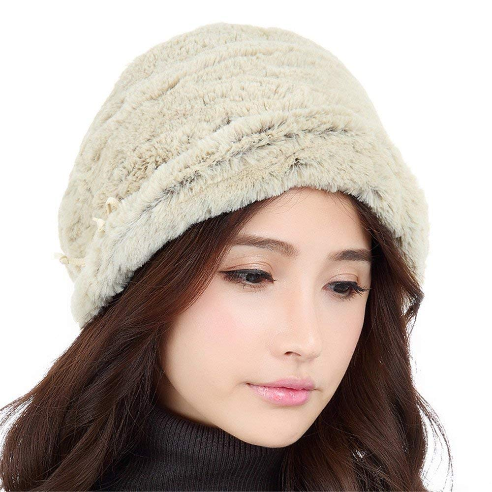 5e53a14f8ea Get Quotations · LONFENNENRThe children of autumn and winter days ear cap  women cashmere hat women curling warm winter